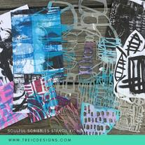 SOULFUL scribbles stencils kit no. 1 by traci bautista